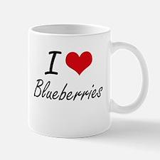 I Love Blueberries Artistic Design Mugs
