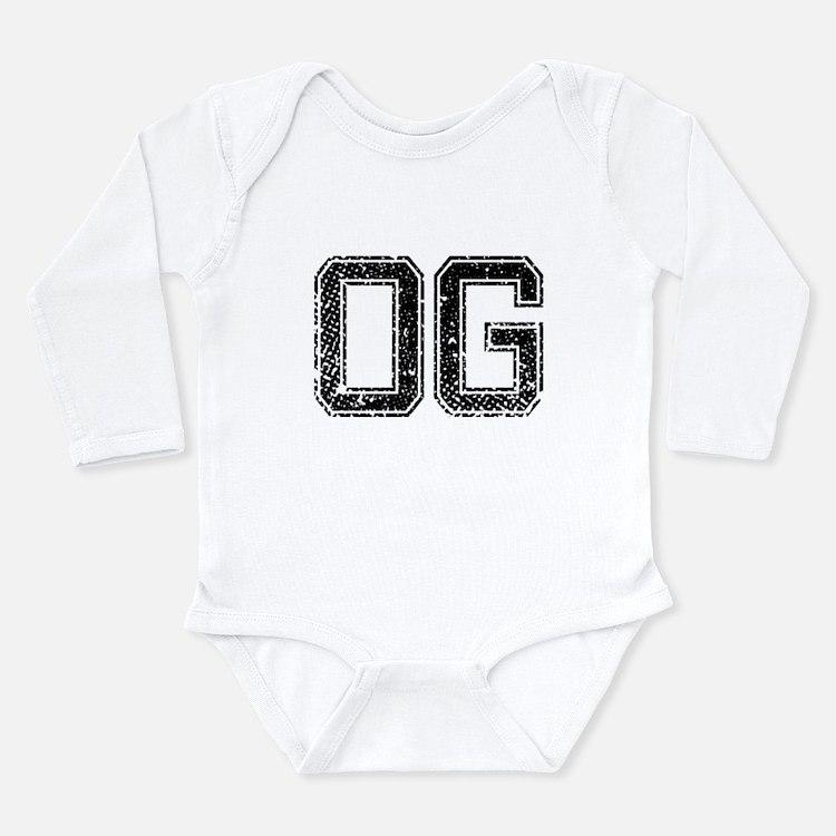 Cute Initials Long Sleeve Infant Bodysuit