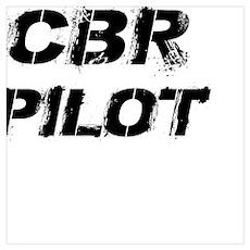 CBR Pilot Black Letters Poster