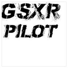 GSXR Pilot Black Letters Poster