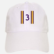 three purple Baseball Baseball Cap