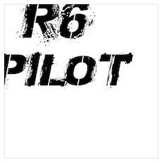 R6 Pilot Black Letters Poster