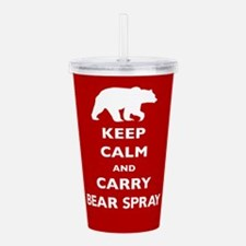 Keep Calm and Carry Bear Spray Acrylic Double-wall