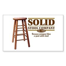 Solid Stool Rectangle Decal