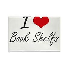 I Love Book Shelfs Artistic Design Magnets