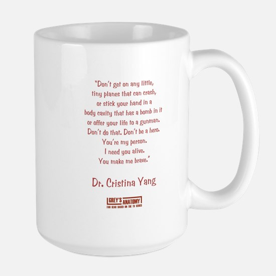 YOU MAKE ME BRAVE Large Mug