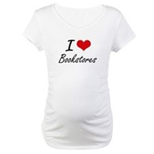 I Love Bookstores Artistic Desig Shirt