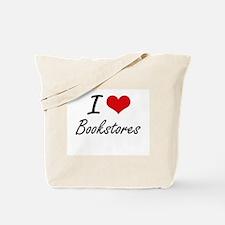 I Love Bookstores Artistic Design Tote Bag