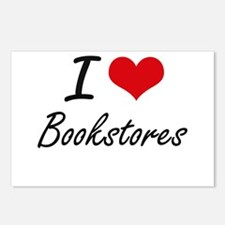 I Love Bookstores Artisti Postcards (Package of 8)