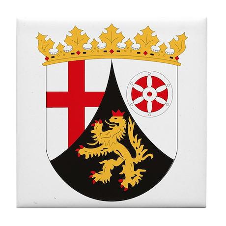 Rheinland Pfalz Coat of Arms Tile Coaster
