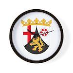 Rheinland Pfalz Coat of Arms Wall Clock