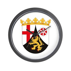 Rheinland Pfalz Coat of Arms Wall Clock