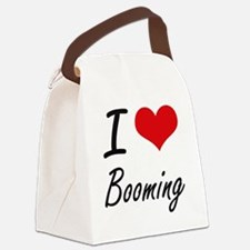 I Love Booming Artistic Design Canvas Lunch Bag