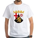 Rheinland Pfalz Coat of Arms White T-Shirt