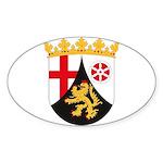 Rheinland Pfalz Coat of Arms Oval Sticker