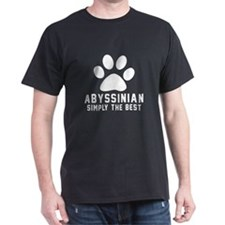 Abyssinian Simply The Best Cat Design T-Shirt