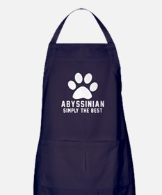 Abyssinian Simply The Best Cat Design Apron (dark)