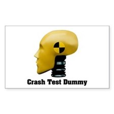 Crash Test Dummy Rectangle Decal