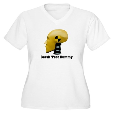 Crash Test Dummy Women's Plus Size V-Neck T-Shirt