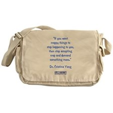 DEMAND MORE... Messenger Bag