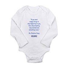 DEMAND MORE... Long Sleeve Infant Bodysuit
