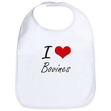 I Love Bovines Artistic Design Bib