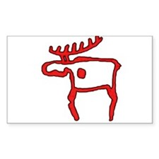 Cave Moose Rectangle Decal