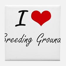 I Love Breeding Grounds Artistic Desi Tile Coaster