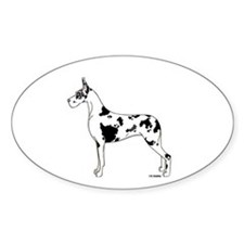 C Harl Standing Oval Decal
