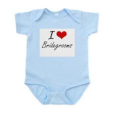 I Love Bridegrooms Artistic Design Body Suit