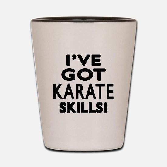 Karate Skills Designs Shot Glass