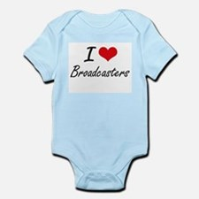I Love Broadcasters Artistic Design Body Suit