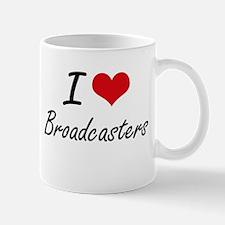 I Love Broadcasters Artistic Design Mugs