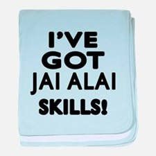 Jai Alai Skills Designs baby blanket