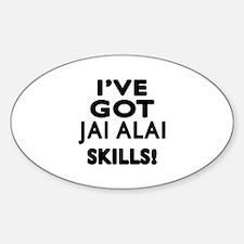 Jai Alai Skills Designs Sticker (Oval)