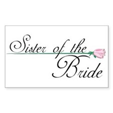 Elegant Sister of the Bride Rectangle Decal