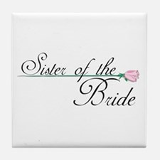 Elegant Sister of the Bride Tile Coaster