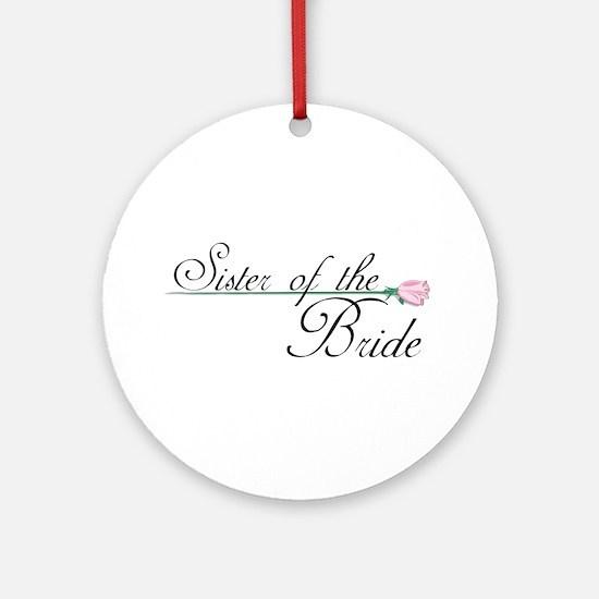 Elegant Sister of the Bride Ornament (Round)