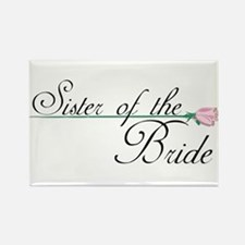 Elegant Sister of the Bride Rectangle Magnet