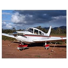 Low wing Aircraft, Outback Australia Poster
