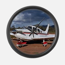 Low wing Aircraft, Outback Austra Large Wall Clock