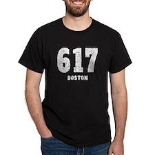 617 Boston Distressed T-Shirt