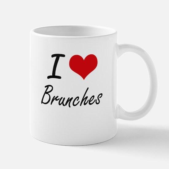 I Love Brunches Artistic Design Mugs