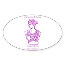 Luna Violet Oval Decal
