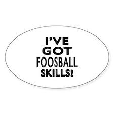 Foosball Skills Designs Decal