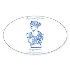 Luna Blue Oval Decal