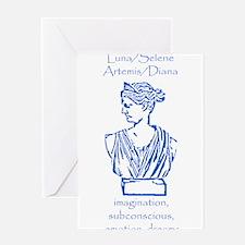 Luna Blue Greeting Card