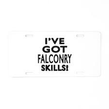 Falconry Skills Designs Aluminum License Plate