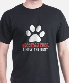 American Curl Simply The Best Cat Des T-Shirt