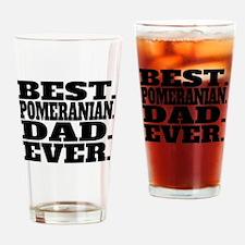 Best Pomeranian Dad Ever Drinking Glass